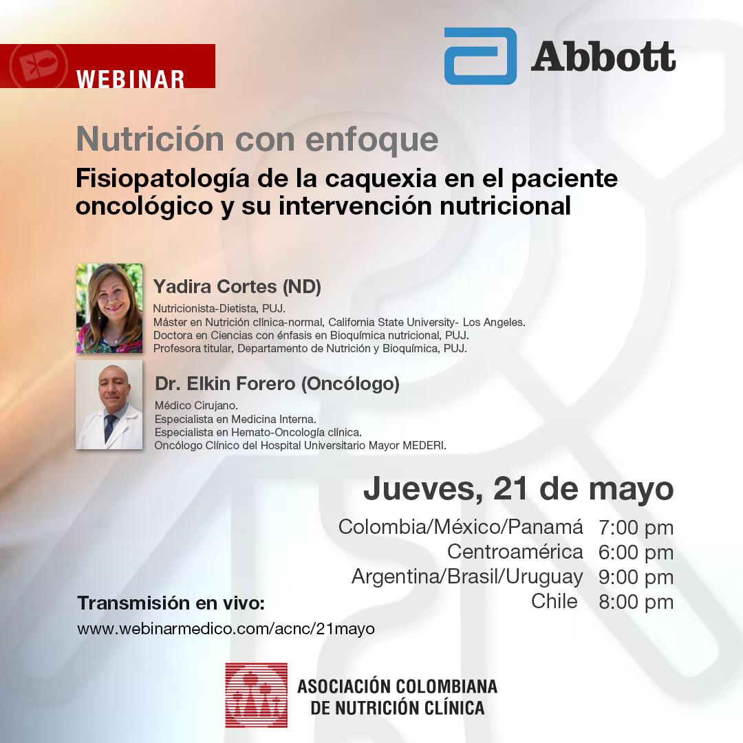 Fisiopatología de la caquexia en el paciente oncológico y su intervención nutricional