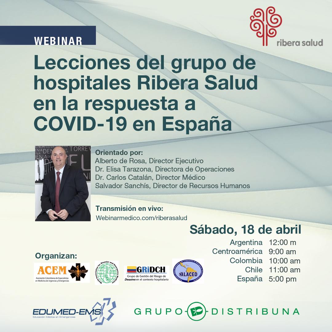 Lecciones del grupo de hospitales Rivera Salud en la respuesta a COVID-19 en España