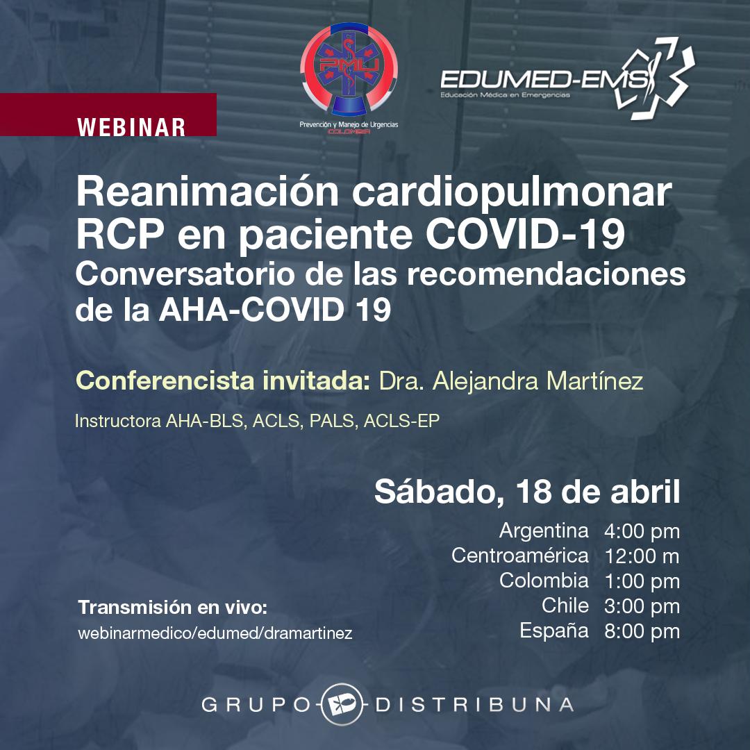 Reanimación Cardiopulmonar RCP en Paciente COVID 19